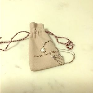 David Yurman Chatelaine Pendant Necklace w/ Pearl